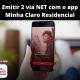 Emitir 2 via NET com o app Minha Claro Residencial