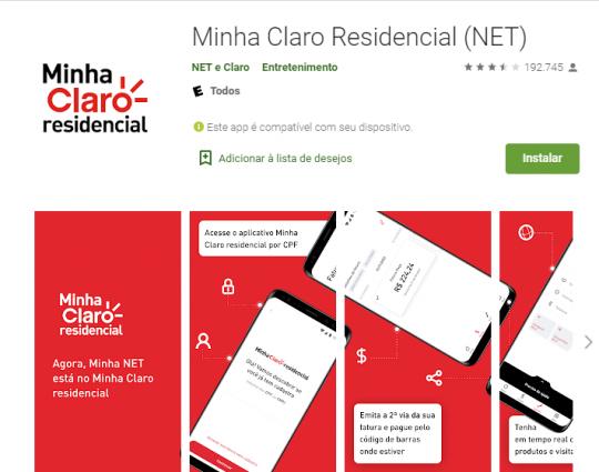 Minha Claro Residencial app
