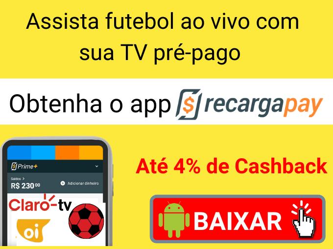 Assista futebol ao vivo com sua TV pré-pago