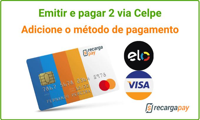 Selecione o método de pagamento